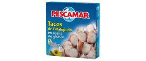 Tacos de cefalópodos en aceite de girasol OL-120 FA