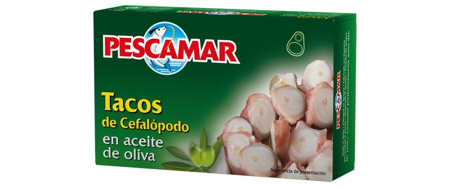 Tacos de cefalópodos en aceite de oliva OL-120 FA