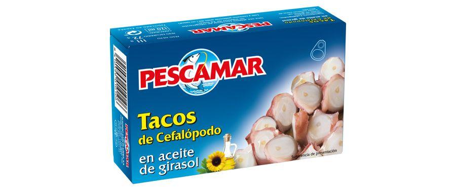 Tacos de cefalópodos en aceite de girasol RO-280 FA