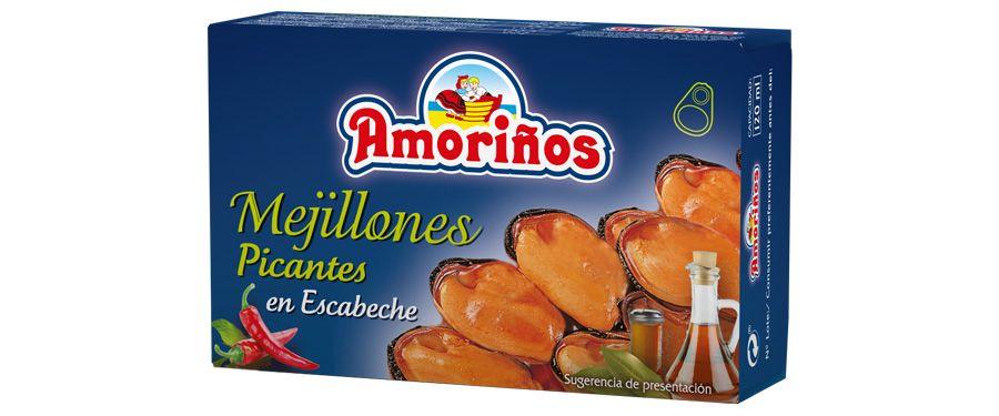 Mejillones en escabeche picantes OL-120 FA